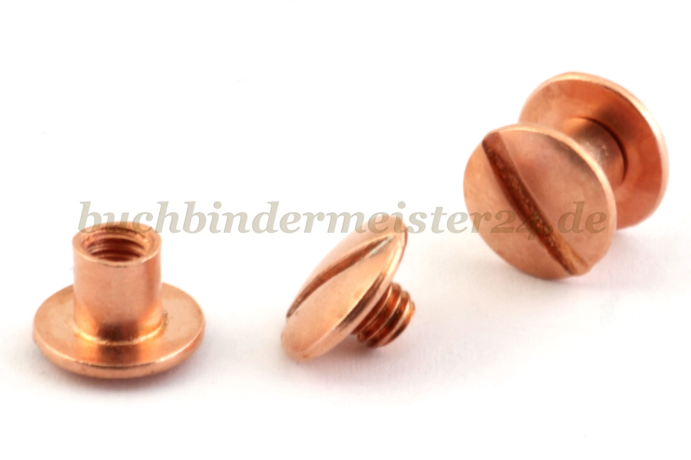 Binding screws copper plated