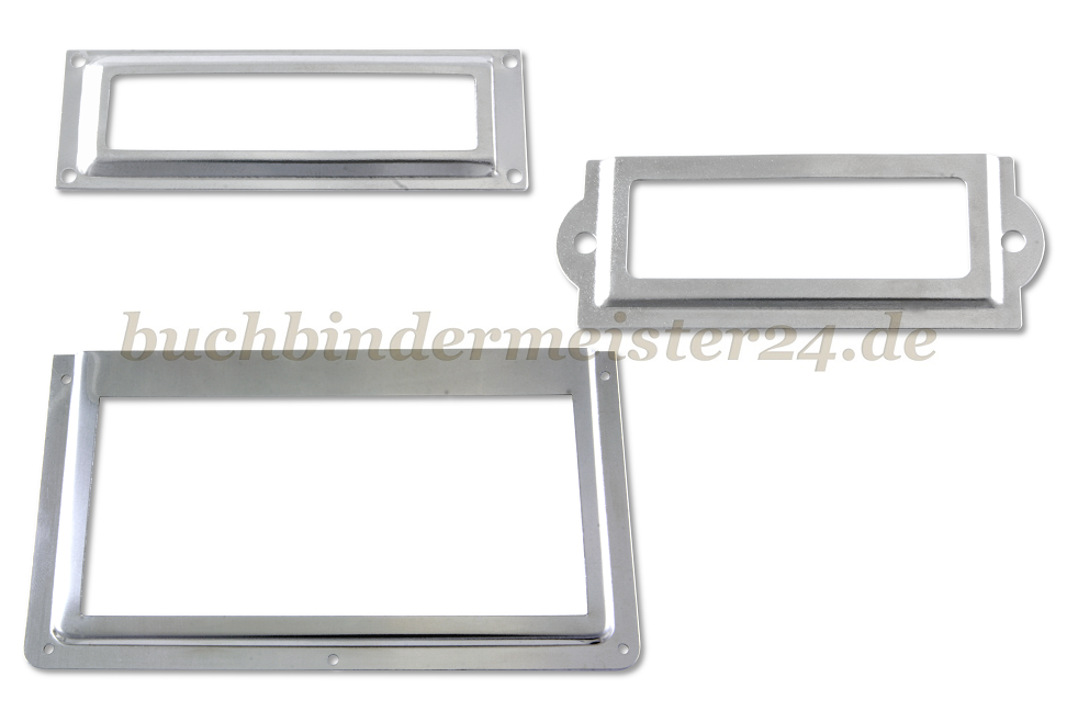 etikettenrahmen muschelgriffe buchbindermeister24. Black Bedroom Furniture Sets. Home Design Ideas