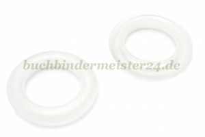 Finger ring eyelets<br>made of plastic<br>transparent<br>