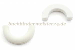 Half ring eyelets made of plastic<br>white<br>