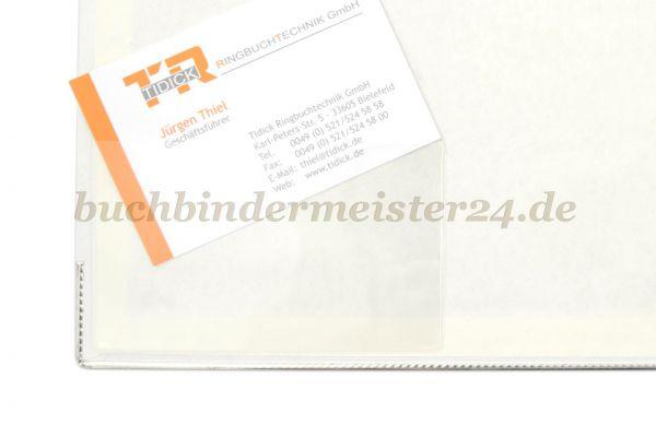 Selbstklebende Visitenkartentaschen Buchbindermeister24