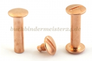 Binding screws<br>25 mm capacity<br>copper plated