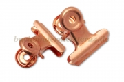 Mini letter clips<br>21 mm width<br>copper plated