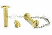 Binding screws with hole<br> 25 mm capacity<br>brass