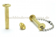 Binding screws with hole<br> 30 mm capacity<br>brass