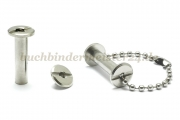 Binding screws with hole<br> 20 mm capacity<br>nickel plated