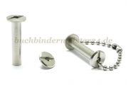 Binding screws with hole<br> 25 mm capacity<br>nickel plated