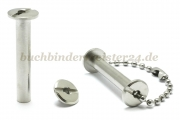 Binding screws with hole<br> 30 mm capacity<br>nickel plated