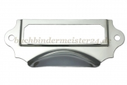 Shell handles with label holder<br>92x40mm<br>for labels 65x20mm