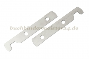Suspension rail ends<br>70 mm long<br>nickel plated