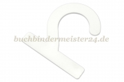 Sample hangers<br>made of plastic<br>72 x 72 x 2 mm<br>white