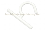 Sample hangers<br>made of plastic<br>70 x 45 x 3 mm<br>white