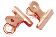 Letter clips<br>50 mm width<br>copper plated