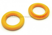 Finger ring eyelets<br>made of plastic<br>yellow<br>