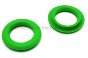 Finger ring eyelets<br>made of plastic<br>green<br>