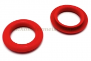 Finger ring eyelets<br>made of plastic<br>red<br>