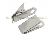 Crocodile clip<br>with rivet hole<br>nickle plated