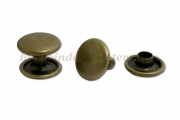 Rapid rivets<br>post 7 mm<br>antique brass plated<br>closed