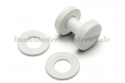 Washers for binding screws<br>white