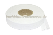 Bias binding tape, white<br>20 mm width<br>20 meters on a spool