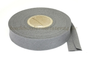 Bias binding tape, grey<br>20 mm width<br>20 meters on a spool