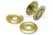Washers for binding screws<br>with recess, brass plated